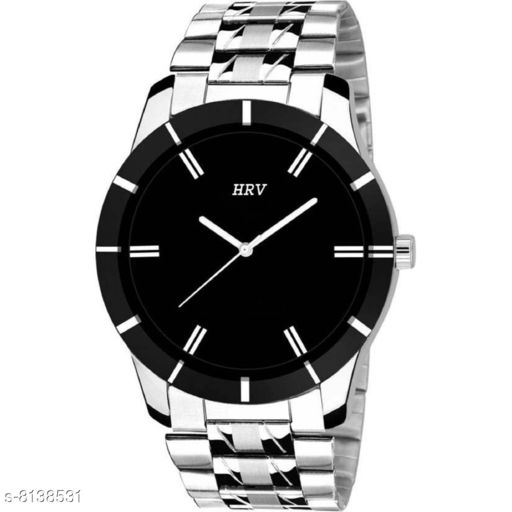 HRV Silver AWESOME BLACK Watch - For Men