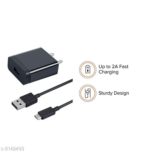 Mobile Chargers Fast Mobile Charger  *Product Name * Charger  *Material * Plastic  *Type * Wired & USB  *Size * Free size  *Compatibility* All Android, IOS & Micro USB  *Description * It Has 1 Piece Of Mobile Charger  *Sizes Available* Free Size *    Catalog Name: Useful Smart Mobile Charger  CatalogID_1352387 C88-SC1335 Code: 392-8142499-