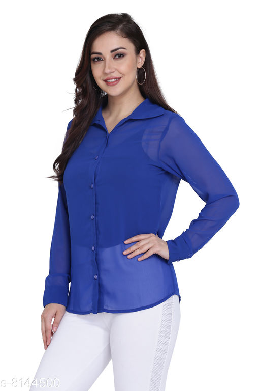 Jaconet Apparel Solid Casual Shirt For women