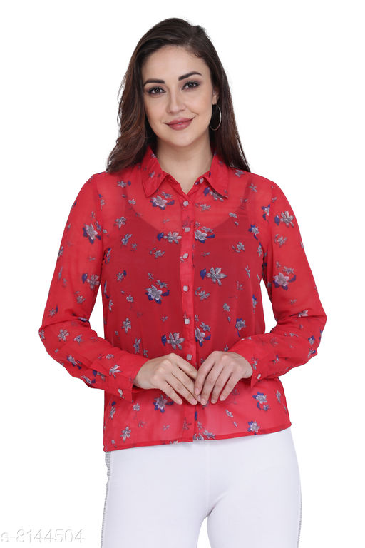 Jaconet Apparel Printed Casual Shirt For women