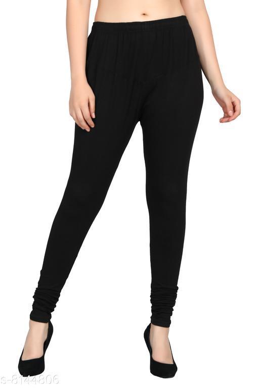 Diaz® Black Plain Legging for Women