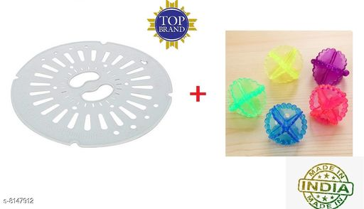 Washing Machine Accessories Spin Cover Diameter - 24.5 (1 Pcs Gray) With Washing Ball 4pcs