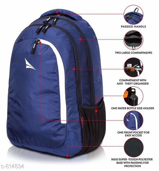 Trendy Men's Blue Bags & Backpacks