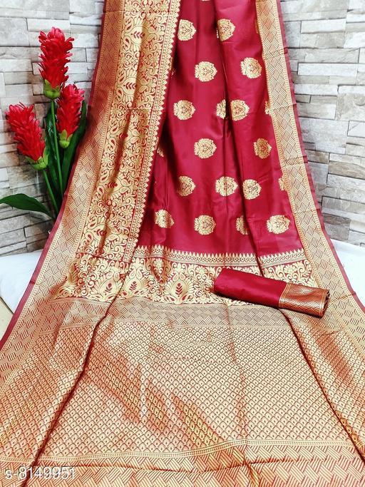 Self Design Poly Silk Kanjivaram Saree