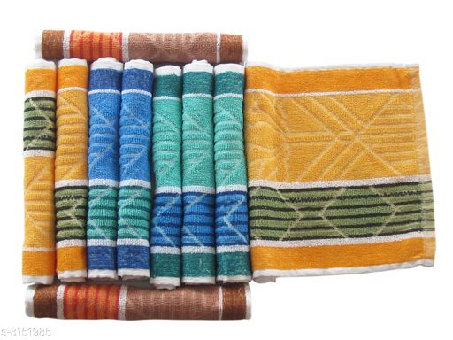 Cotton Terry  Hand Towel Pack of 12 pcs small size (26 x 40 cm )