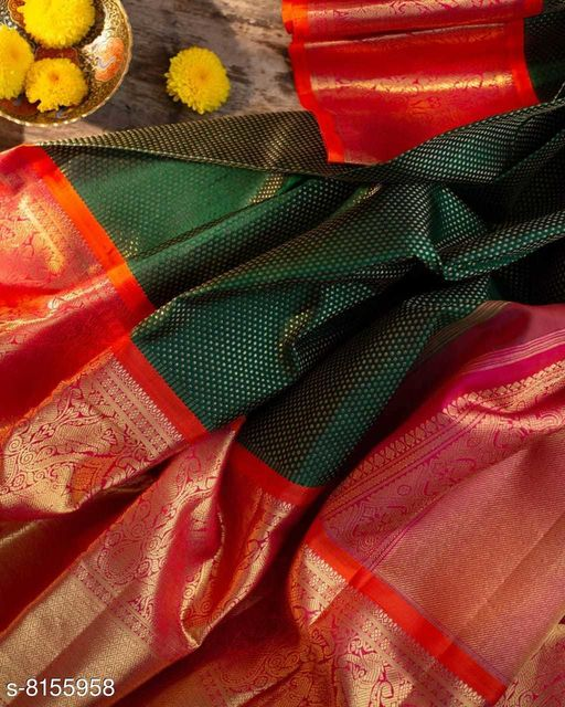 Kajal Kanjivaram Silk Saree