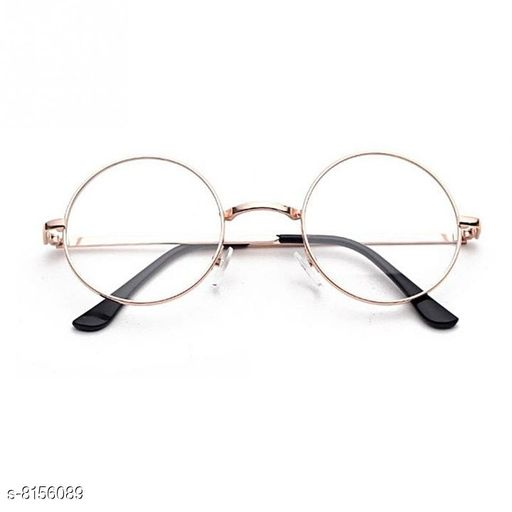 ARZONAI Fashion New Round Oval Stylish Sunglasses for Men & Women (Silver- Transparent)