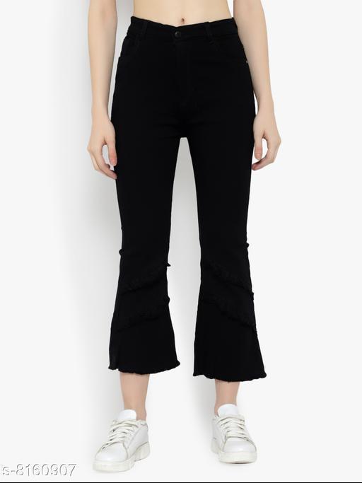 Women High Waist Wide Leg Denim Jeans