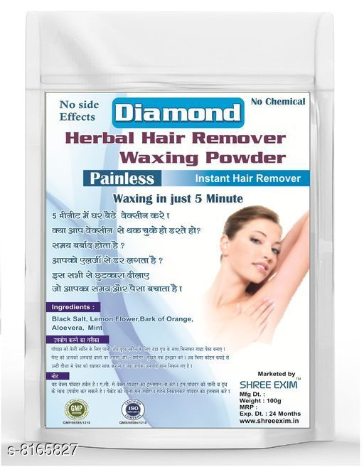 Herbal Products Herbal Painless Waxing Powder  *Product Name* Herbal Waxing Powder  *Brand Name* Shree Exim  *Product Type* Powder  *Flavor* Diamond  *Capacity* 100 gm  *Multi Pack* 1  *Sizes Available* Free Size *   Catalog Rating: ★4.2 (6)  Catalog Name: Herbal Painless Waxing Powder CatalogID_1357614 C52-SC1311 Code: 462-8165827-