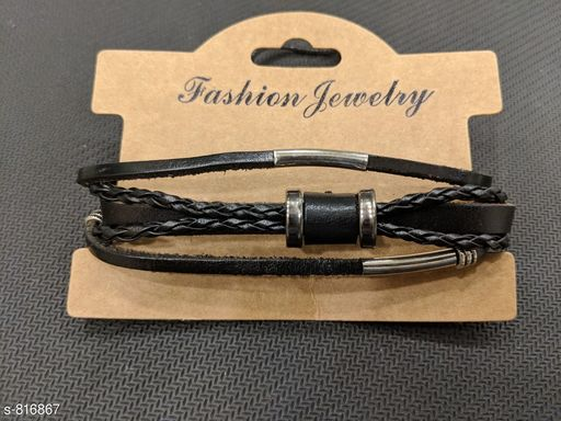 Jewellery Trendy Bracelet Accessories Wrist Band  *Material* Leather  *Size* Free Size  *Description* It Has 1 Piece Of Wrap Wrist Bands  *Sizes Available* Free Size *   Catalog Rating: ★3.9 (14)  Catalog Name:  Men Bracelet Accessories Wrist Bands CatalogID_94054 C65-SC1227 Code: 691-816867-