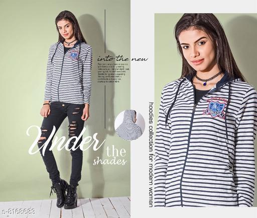 Trendy Hot & latest Sweaters Elegant Cotton Mix Printed Women's Hoodie