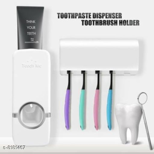 Toothpaste Dispenser Toothpaste Dispenser Pack: Multipack Country of Origin: India Sizes Available: Free Size *Proof of Safe Delivery! Click to know on Safety Standards of Delivery Partners- https://ltl.sh/y_nZrAV3  Catalog Rating: ★3.6 (1120)  Catalog Name: Classy Toothpaste Dispenser CatalogID_1361235 C132-SC1584 Code: 532-8181467-