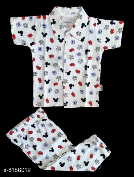 Nightsuits Kids Boys Printed Nightsuits  *Top Fabric* Cotton Blend  *Bottom Fabric* Cotton Blend  *Sizes*  6-12 Months  *Sizes Available* 6-12 Months *    Catalog Name: Latest Boys Nightsuits CatalogID_1362277 C59-SC1183 Code: 923-8186012-