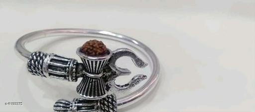 Bangles & Bracelets German silver stylish kada  *Base Metal* Alloy  *Multipack* 1  *Sizes*   *Sizes Available* Free Size *    Catalog Name: Elite Graceful Bracelet & Bangles CatalogID_1363711 C77-SC1094 Code: 942-8192375-