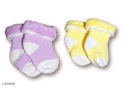 Advikavya Baby Towel Socks very acctractive and cute soft colour is Light Purple and Light Yellow