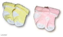 Advikavya Baby Towel Socks very acctractive and cute soft colour is Pink and Light Yellow