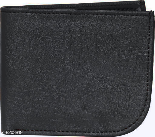 fashlook black curve wallet for men