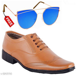 Stylish Men Formal Shoes With Free Sunglasses