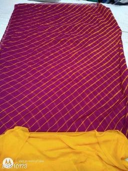 Designer Semi chiffon lahariya saree withrunnning blouse