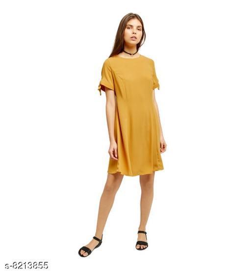 Fabrange Women's Crepe Casual Dress