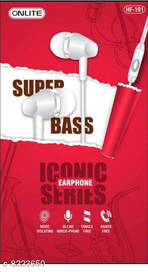 Wired Headphones & Earphones Wired Headphones & Earphones  *Product Name* Wired Headphones & Earphones  *Material* ABS Plastic  *Product Type* Earphone  *Multipack* 1  *Sizes*  Free Size  *Sizes Available* Free Size *   Catalog Rating: ★4.3 (12)  Catalog Name: Wired Headphones & Earphones CatalogID_1370906 C97-SC1375 Code: 091-8223650-