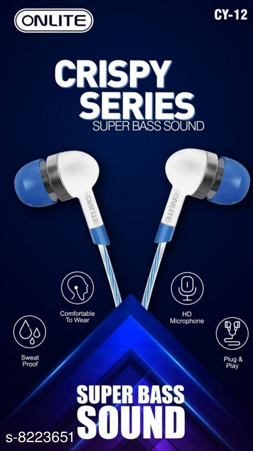 Wired Headphones & Earphones Wired Headphones & Earphones  *Product Name* Wired Headphones & Earphones  *Material* ABS Plastic  *Product Type* Earphone  *Multipack* 1  *Sizes*  Free Size  *Sizes Available* Free Size *   Catalog Rating: ★4.9 (7)  Catalog Name: Wired Headphones & Earphones CatalogID_1370906 C97-SC1375 Code: 091-8223651-