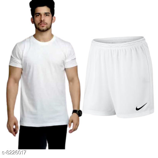 Tracksuits Men Tshirt and Nikker  *Top Fabric* Nylon  *Bottom Fabric* Nylon  *Multipack* 1  *Sizes*   *L (Top Chest Size* 32 in, Top Length Size  *Sizes Available* L *    Catalog Name: Classy Latest Top & Bottom Set CatalogID_1371418 C70-SC1402 Code: 195-8226017-