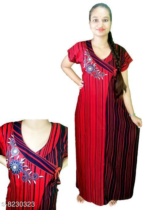Nightdress LADIES NIGHTY  *Fabric* Cotton  *Sizes*  L  *Sizes Available* L *    Catalog Name: Divine Stylish Women Nightdresses CatalogID_1372329 C76-SC1044 Code: 265-8230323-