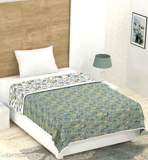 100% Cotton Single Bed Dohar Lightweight Reversible Single Dohar for Single Bed Blanket/Duvet/Quilt/AC Dohar 60 x 90