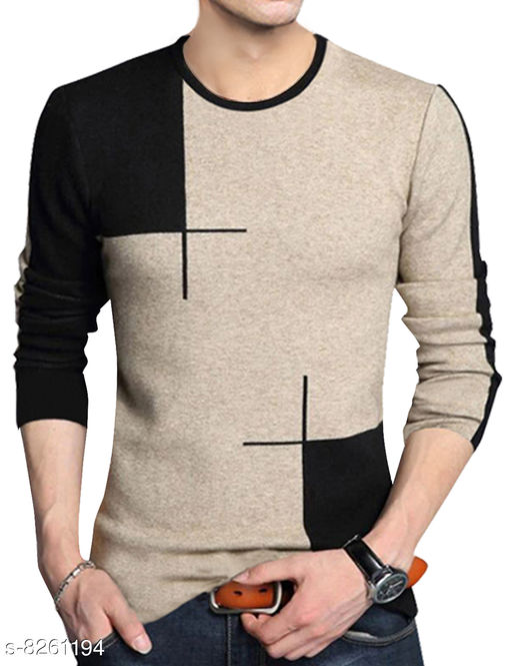 Seven Rocks 100% Cotton Regular Fit  Round Neck Half Sleeve Men's Sweatshirts