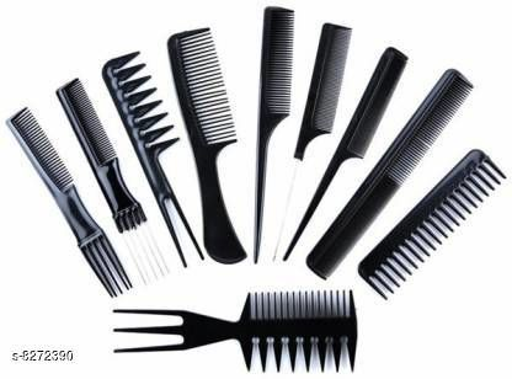 Professional Hair Comb 10 PCs Set Hair brush Make saloon at home For Men & Women