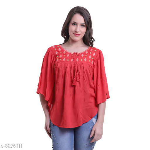 Attractive Women Embroidered Poncho