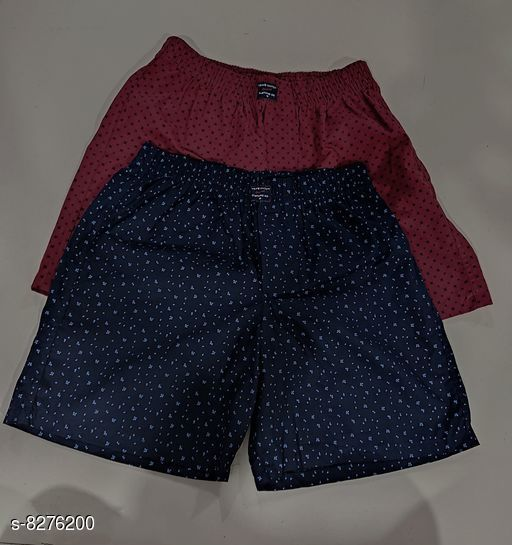Boxers & Lounge Shorts New Stylish Mens Boxers & Lounge Shorts  *Fabric* Cotton  *Pattern* Printed  *Multipack* 2  *Sizes*   *34 (Waist Size* 34 in, Length Size  *36 (Waist Size* 36 in, Length Size  *26 (Waist Size* 26 in, Length Size  *38 (Waist Size* 38 in, Length Size  *28 (Waist Size* 28 in, Length Size  *30 (Waist Size* 30 in, Length Size  *32 (Waist Size* 32 in, Length Size  *Sizes Available* 26, 28, 30, 32, 34, 36, 38 *   Catalog Rating: ★4.1 (53)  Catalog Name: New Stylish Mens Boxers & Lounge Shorts CatalogID_1382502 C68-SC1218 Code: 953-8276200-