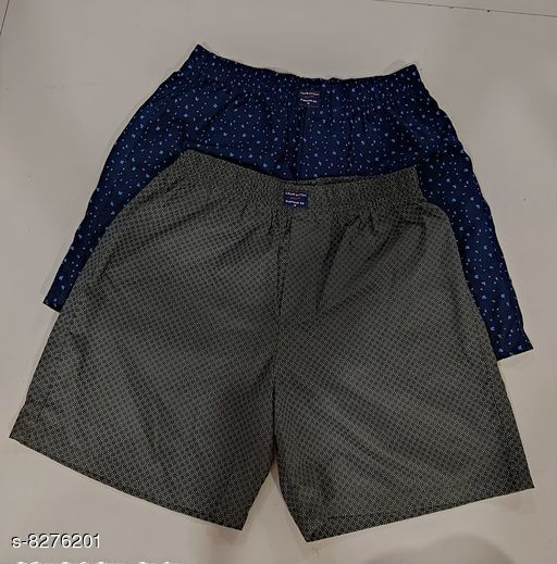 Boxers & Lounge Shorts New Stylish Mens Boxers & Lounge Shorts  *Fabric* Cotton  *Pattern* Printed  *Multipack* 2  *Sizes*   *34 (Waist Size* 34 in, Length Size  *36 (Waist Size* 36 in, Length Size  *26 (Waist Size* 26 in, Length Size  *38 (Waist Size* 38 in, Length Size  *28 (Waist Size* 28 in, Length Size  *30 (Waist Size* 30 in, Length Size  *32 (Waist Size* 32 in, Length Size  *Sizes Available* 26, 28, 30, 32, 34, 36, 38 *   Catalog Rating: ★4.1 (53)  Catalog Name: New Stylish Mens Boxers & Lounge Shorts CatalogID_1382502 C68-SC1218 Code: 953-8276201-