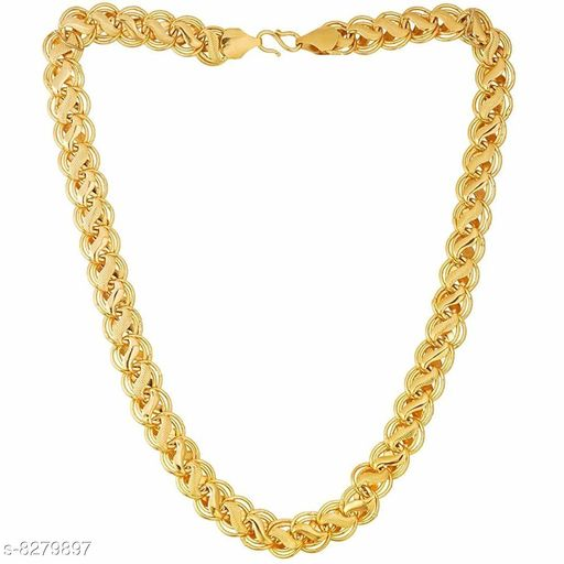 Shankhraj Mall Gold Plated Mens Necklace Chain