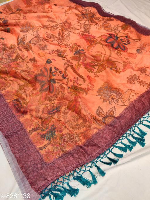 Cotton Beautiful Floral Print Pashmina Sarees