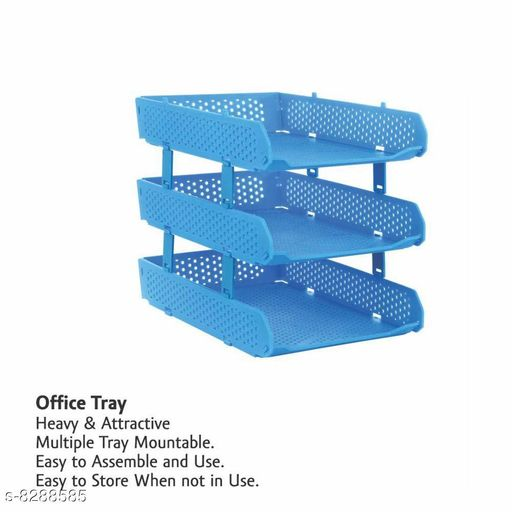 Kids Table & Storage Rainbow Office Supplies - Plastic 3-Layer Office Tray for Document/File Storage   *Material* Plastic  *Pack* Pack of 1  *Sizes Available* Free Size *    Catalog Name: Latest Drawer Organisers CatalogID_1385247 C138-SC1675 Code: 275-8288585-