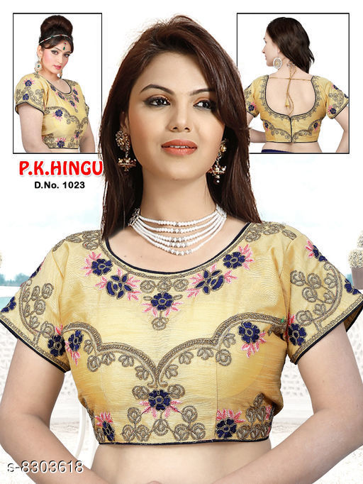 Stylish bangalory silk with full embroidery and full stitch blouse