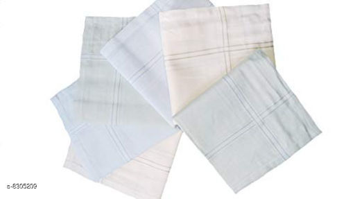 Hankerchiefs Beautiful Cotton Hankerchief  *Material* Cotton  *Multipack* 12  *Sizes*  Free Size  *Sizes Available* Free Size *    Catalog Name: Casual Trendy Men Handkerchief CatalogID_1389626 C65-SC1230 Code: 684-8305209-