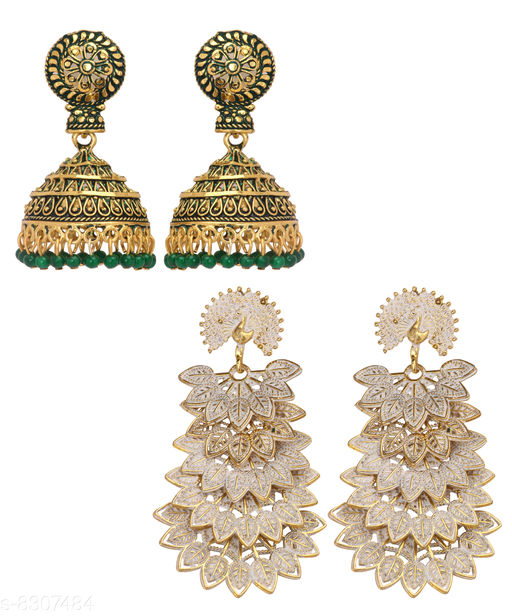 Earrings & Studs Women Jewellery - Earrings & Studs  *Base Metal* Alloy  *Plating* Gold Plated  *Stone Type* Artificial Stones  *Sizing* Non-Adjustable  *Multipack* 1  *Sizes Available* Free Size *    Catalog Name: Women Jewellery - Earrings & Studs CatalogID_1390178 C77-SC1091 Code: 913-8307484-
