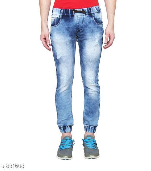 Elegant Solid Denim Jean