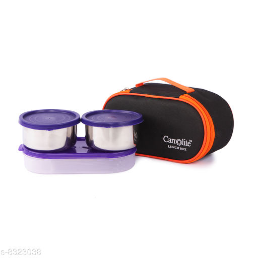 Excotic Black-Orange 3 Purple Containers Lunchbox 800 ml