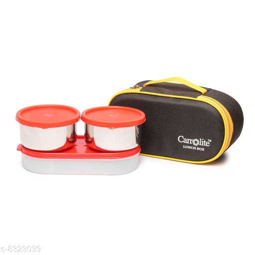 Excotic Black-Yellow 3 Red Containers Lunchbox 800 ml