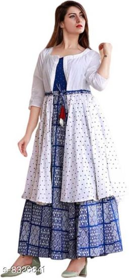 WOMEN'S TRENDY GOWN WITH JECKET