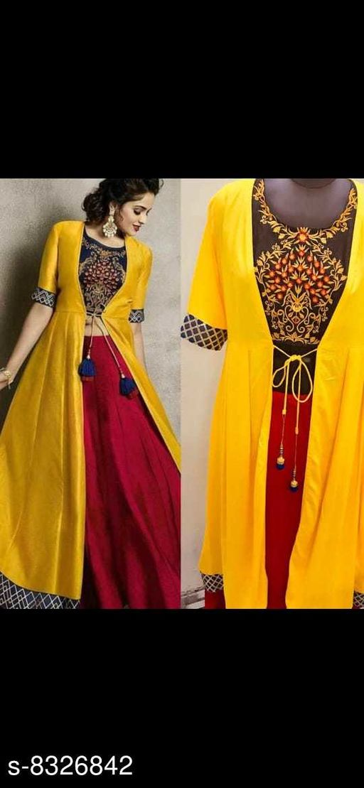 WOMEN'S TRENDY EMBROIEDORY GOWN WITH JECKET