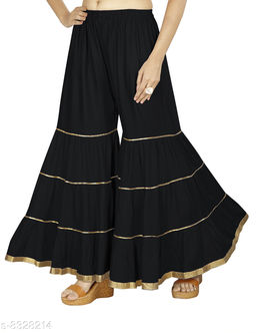 Karma Women's Rayon blend Flared Sharara