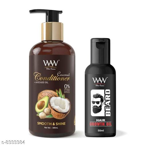 Hair Care WAW Coconut Conditioner and Beard Hair Growth Oil Combo  *Product Name* WAW Coconut Conditioner and Beard Hair Growth Oil Combo  *Multipack* 2  *Sizes Available* Free Size *    Catalog Name:  Advanced Hydrating Shampoo CatalogID_1396087 C50-SC1249 Code: 216-8333384-