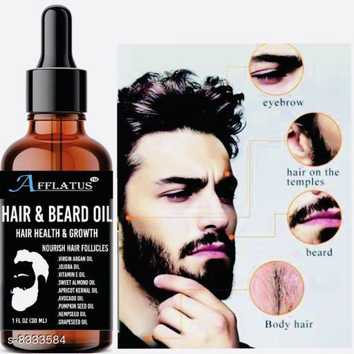 Afflatus Natural & Organic Advanced Beard Growth Oil
