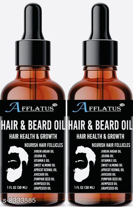 Afflatus Natural & Organic Advanced Beard Growth Oil Pack of 2