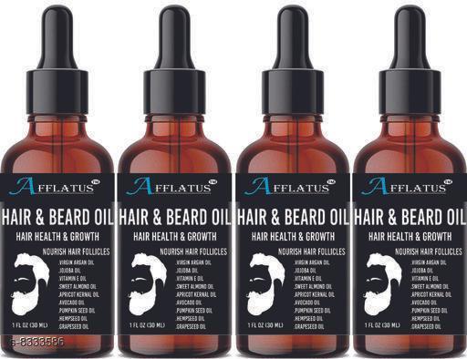 Afflatus Natural & Organic Advanced Beard Growth Oil Pack of 4